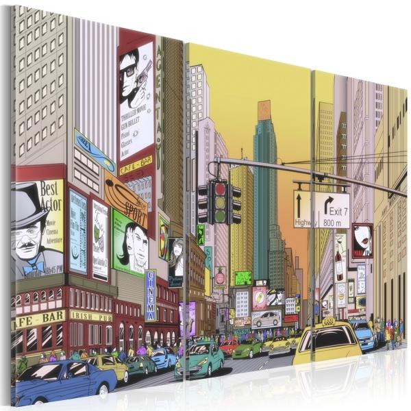 Obraz - Miasto z komiksu (60x40 cm) A0-N1633