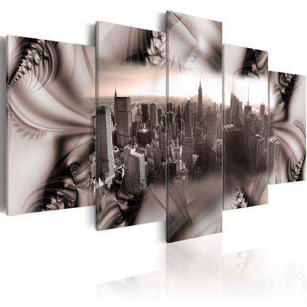 Obraz - Miasto ze stali (100x50 cm) A0-N1649
