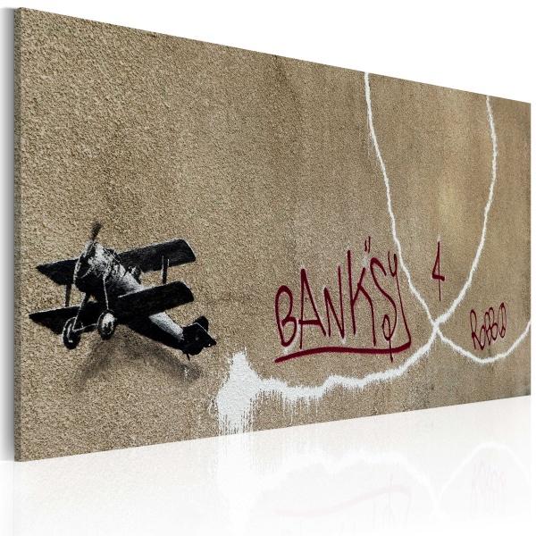 Obraz - Miłosny samolot (Banksy) (60x40 cm) A0-N1819