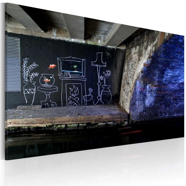 Obraz - Mój jest ten kawałek podłogi (Banksy) (60x40 cm) A0-N1792