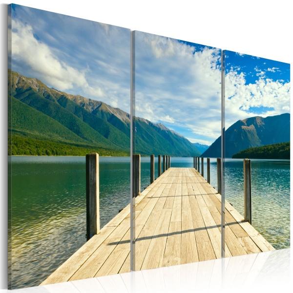 Obraz - Molo na jeziorze (60x40 cm) A0-N1466