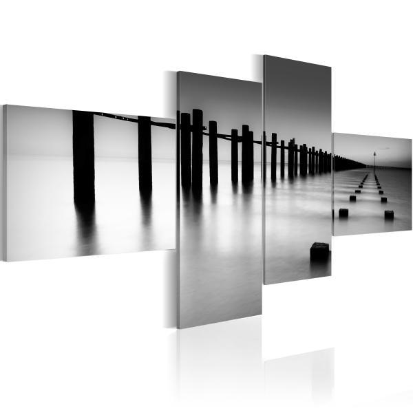 Obraz - Morskie wybrzeże późną jesienią (100x45 cm) A0-N1381