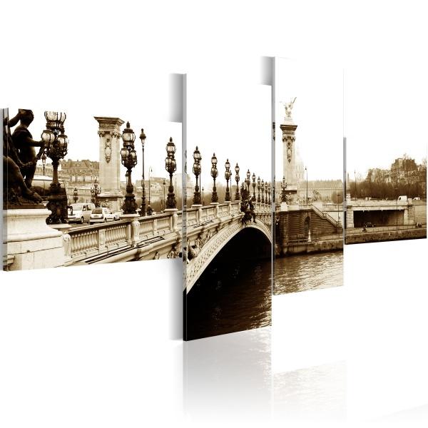 Obraz - Most Aleksandra III w Paryżu (100x45 cm) A0-N1455