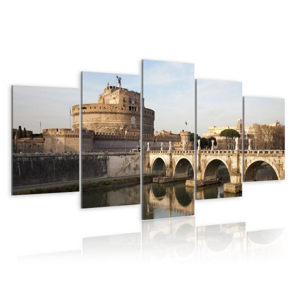 Obraz - Most św. Anioła o poranku (100x50 cm) A0-N1519