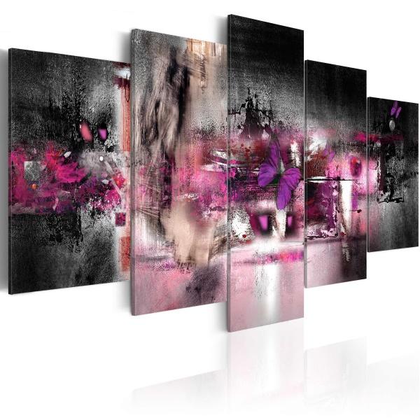 Obraz - Motyl i abstrakcja (100x50 cm) A0-N1658