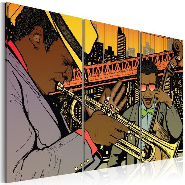 Obraz - Muzyk jazzowy (60x40 cm) A0-N1726