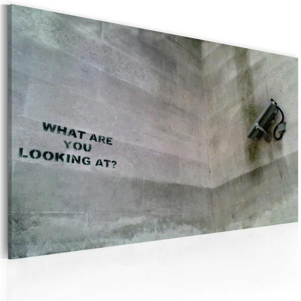 Obraz - Na co się patrzysz? (Banksy) (60x40 cm) A0-N1804