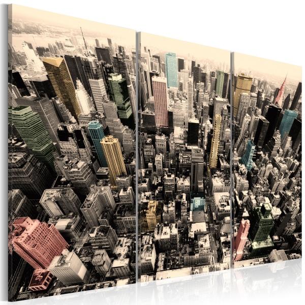 Obraz - Najwyższe budynki Nowego Jorku (60x40 cm) A0-N1433