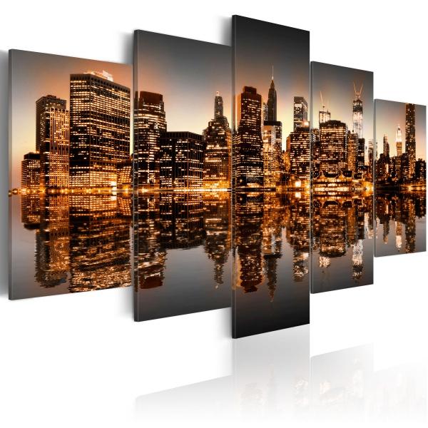 Obraz - Natchniony Nowy Jork - 5 części (100x50 cm) A0-N1835