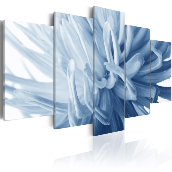 Obraz - Niebieski kwiat dalii (100x50 cm) A0-N1593