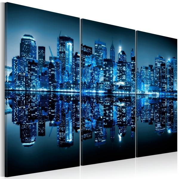 Obraz - Niebieski Manhattan (60x40 cm) A0-N1736