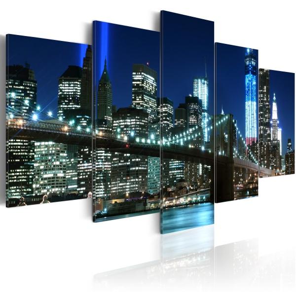 Obraz - Niebieski Nowy Jork (100x50 cm) A0-N1723