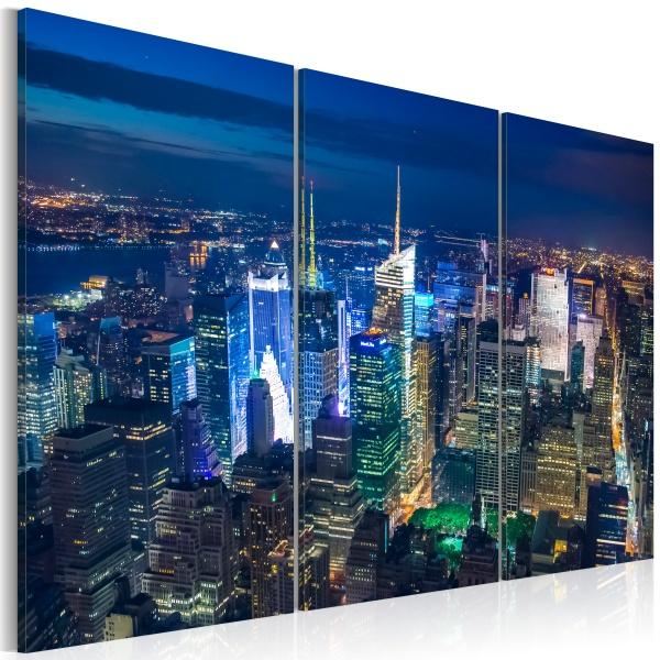 Obraz - Noc w Nowym Jorku z perspektywy ptaka (60x40 cm) A0-N1706