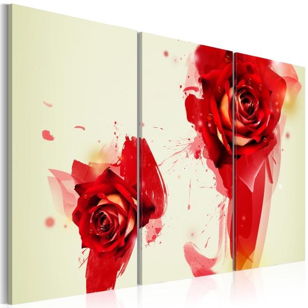 Obraz - Nowe spojrzenie na różę (60x40 cm) A0-N1643