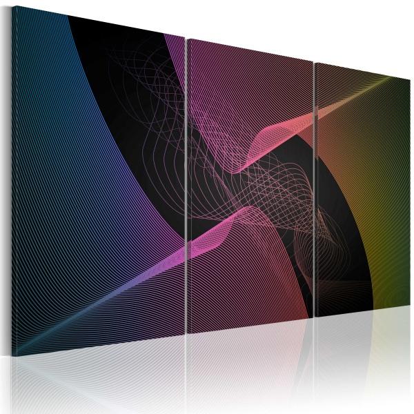Obraz - Nowoczesna abstrakcja w gamie barw (60x40 cm) A0-N1686