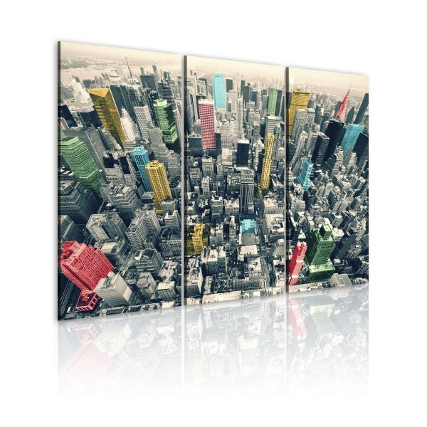 Obraz - Nowy Jork - czarno-biały, lecz w kolorze (60x40 cm) A0-N1379