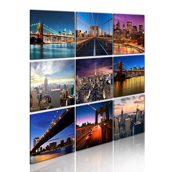 Obraz - Nowy Jork w dziewięciu odsłonach (60x60 cm) A0-N1784