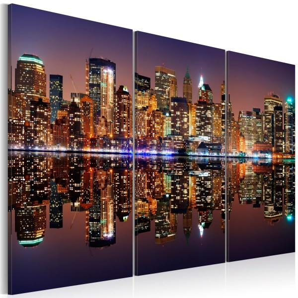 Obraz - Nowy Jork w tafli wody (60x40 cm) A0-N1703