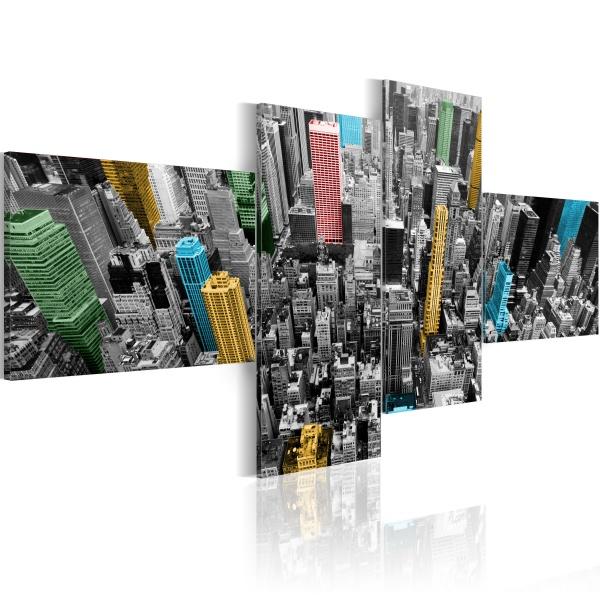 Obraz - Nowy Jork w zaskakującej aranżacji (100x45 cm) A0-N1432
