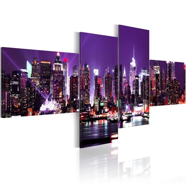 Obraz - NY - miasto, które nigdy nie zasypia (100x45 cm) A0-N1377