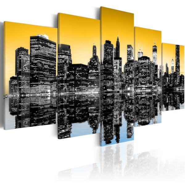 Obraz - NYC lustrzane odbicie - 5 części (100x50 cm) A0-N1828