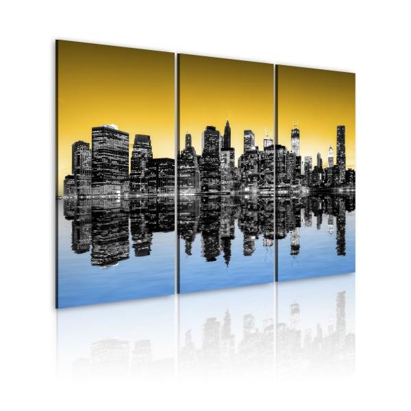 Obraz - NYC lustrzane odbicie - tryptyk (60x40 cm) A0-N1820