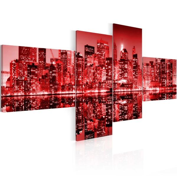 Obraz - NYC - miasto w odcieniach czerwieni (100x45 cm) A0-N1742