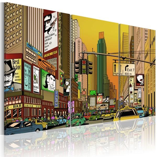 Obraz - NYC w komiksie (60x40 cm) A0-N1635