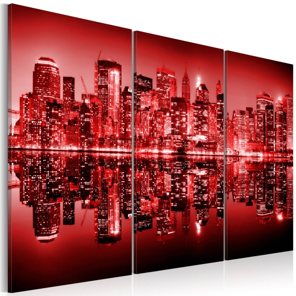 Obraz - NYC - Wielkie jabłko w ostrej czerwieni (60x40 cm) A0-N1733