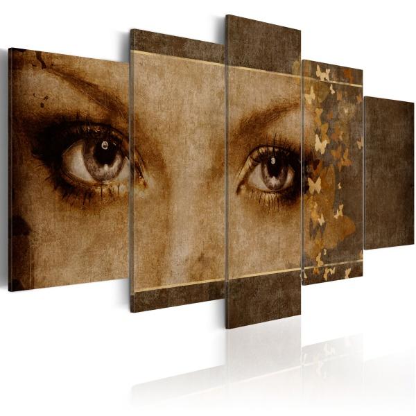 Obraz - Oczy jak motyle (100x50 cm) A0-N1683