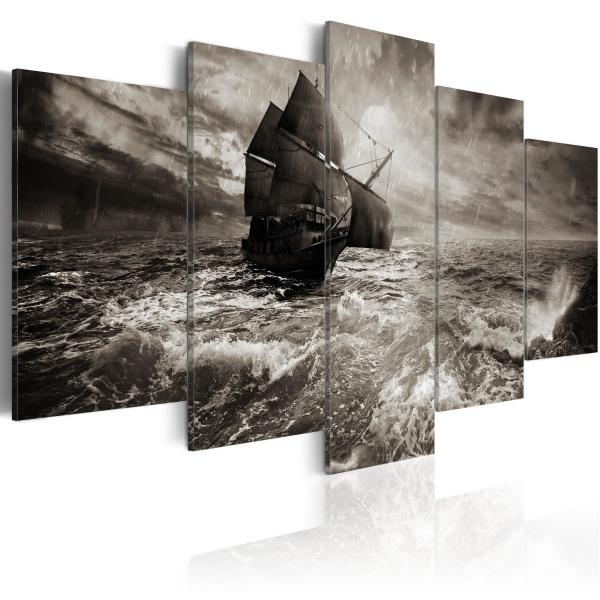 Obraz - Okręt podczas sztormu (100x50 cm) A0-N1760