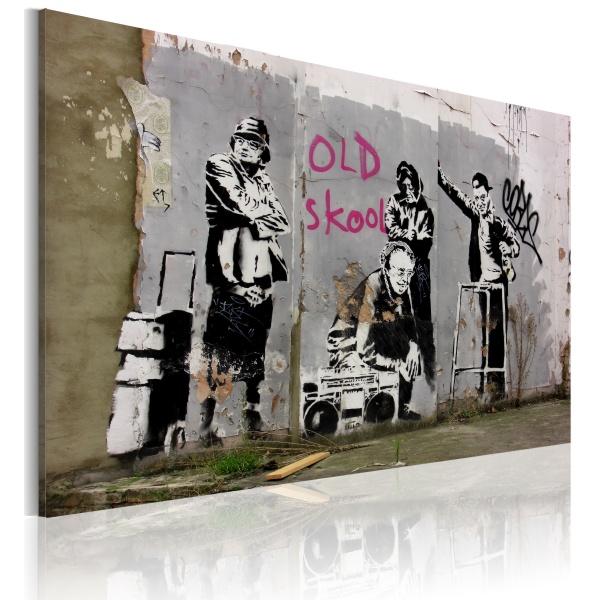 Obraz - Old school (Banksy) (60x40 cm) A0-N1798