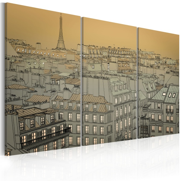 Obraz - Ostatnia chwila dnia - Paryż (60x40 cm) A0-N1772