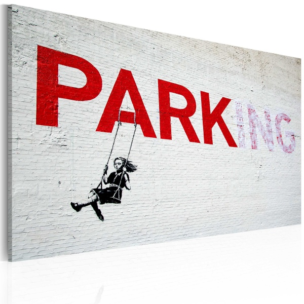 Obraz - Parking (Banksy) (60x40 cm) A0-N1811