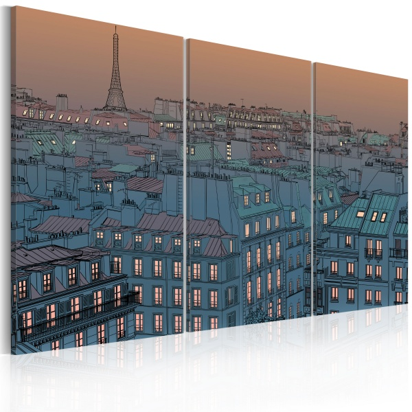 Obraz - Paryż - miasto idzie spać (60x40 cm) A0-N1765
