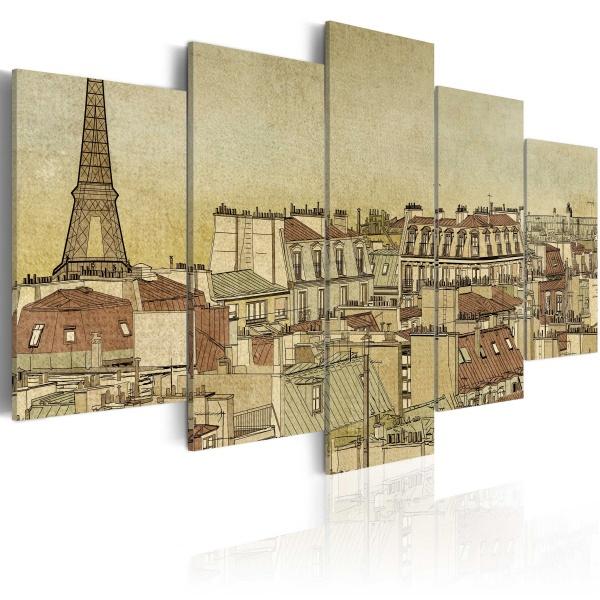 Obraz - Paryż poprzednich stuleci (100x50 cm) A0-N1781