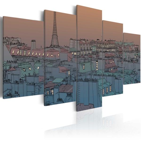 Obraz - Paryż - zapada zmrok (100x50 cm) A0-N1767