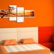 Obraz - Pomarańczowe chmury nad sawanną A0-N1058