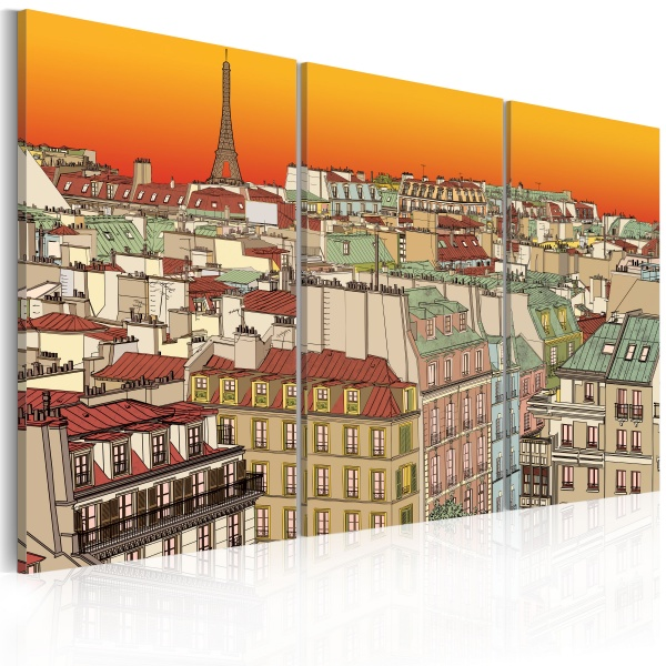 Obraz - Promienny Paryż (60x40 cm) A0-N1770