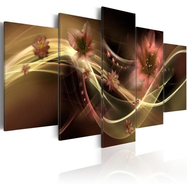 Obraz - Przydymione kwiaty (100x50 cm) A0-N1654