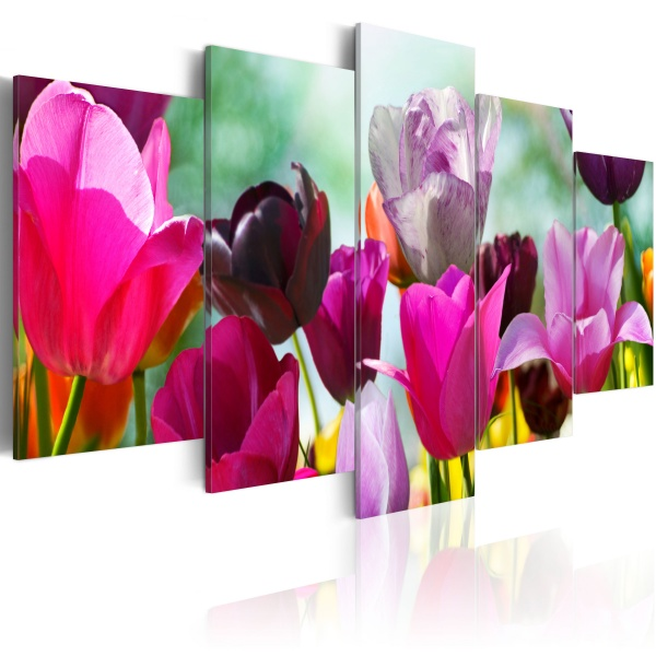 Obraz - Różowo i wesoło (100x50 cm) A0-N1418