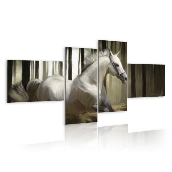 Obraz - Rozpędzony koń (100x45 cm) A0-N1629
