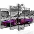 Obraz - Samochód w stylu retro na Pustyni Kolorado - 5 części A0-N1123