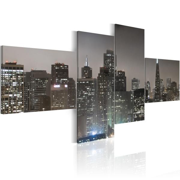Obraz - San Francisco wieczorową porą (100x45 cm) A0-N1462