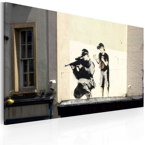 Obraz - Snajper i chłopiec (Banksy) (60x40 cm) A0-N1806