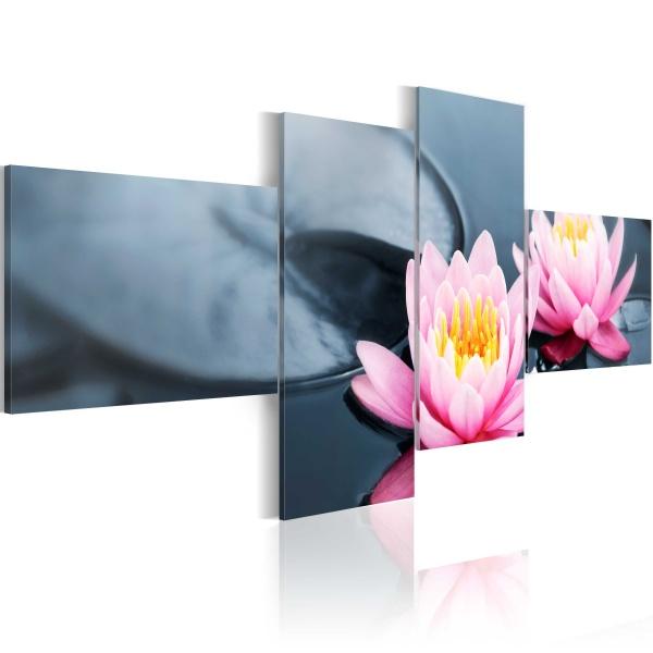 Obraz - Spokój lilii (100x45 cm) A0-N1491