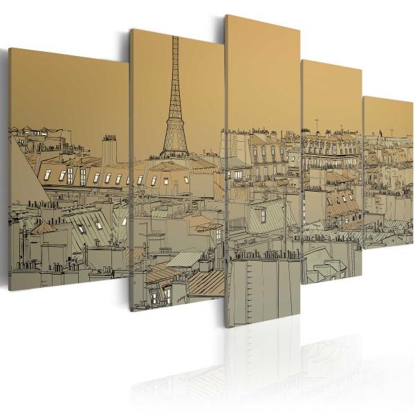 Obraz - Stary dobry Paryż (Vintage) (100x50 cm) A0-N1775
