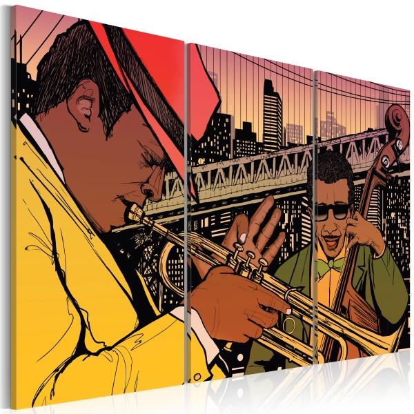 Obraz - Stolica jazzu - Nowy Jork (60x40 cm) A0-N1724