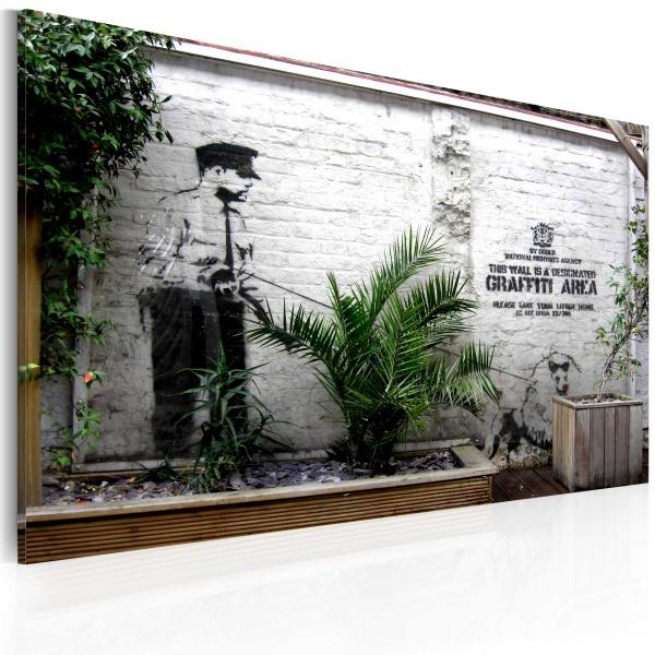Obraz - Strefa graffiti (Banksy) (60x40 cm) A0-N1805