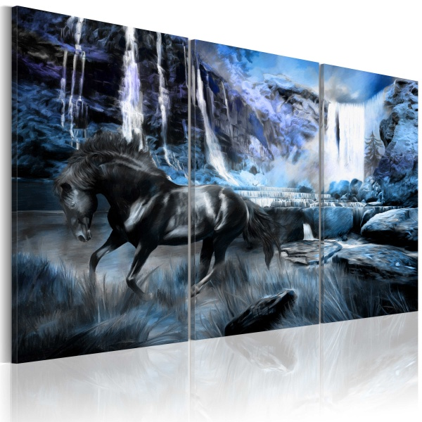 Obraz - Szafirowy wodospad (60x40 cm) A0-N1666